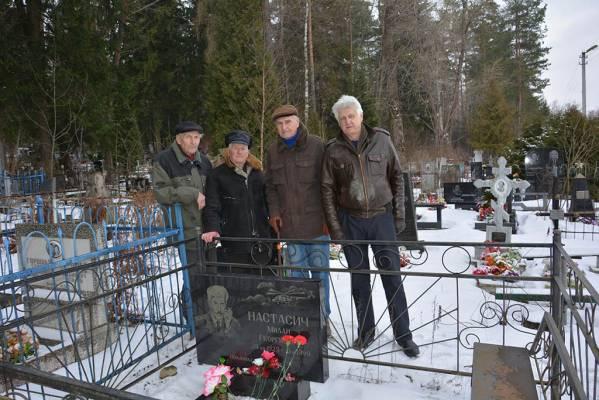 У могилы полковника Милана Настасича