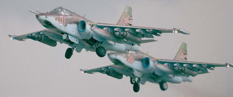 Взлетают Су-25